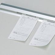 【お買得】伝票をしっかりキャッチ。厨房用ペーパーロック 550mm PL-55T 両面テープ